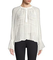 birma beaded long sleeve blouse