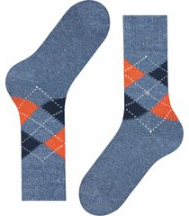 burlington socks tweed argyle men socks - blue marl | 21924-6660