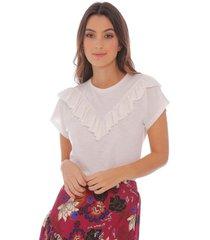 camiseta con detalles en boleros para mujer 100339-00