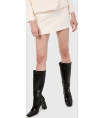 falda blanco hueso mng