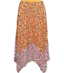 ezeke light pleated midi skrt knälång kjol multi/mönstrad french connection