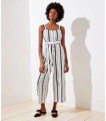 loft tall striped strappy jumpsuit