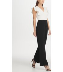 dkny ruffle detail jumpsuit, created for macy's