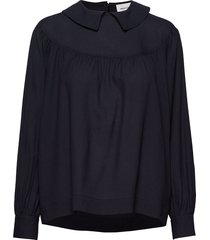 maia top blouse lange mouwen blauw wood wood