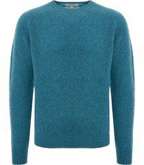 ymc suedehead crew neck jumper - blue p8kaa-41