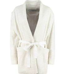 iro ankyl tweed kimono-jacket