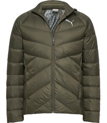 pwrwarm packlite 600 down jacket fodrad jacka grön puma