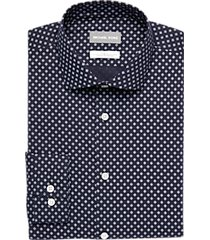 michael kors navy diamond slim fit dress shirt