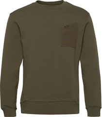 military details sws sweat-shirt tröja grön lee jeans