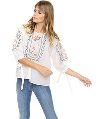 blusa blanca laila florey