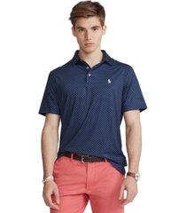 polo ralph lauren men's big & tall diamond-print performance polo shirt