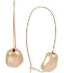 robert lee morris soho gold-tone nugget bead linear drop earrings