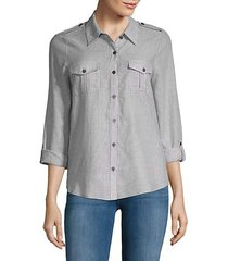 dumas pinstripe button-down shirt