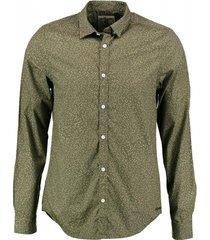 garcia groen slim fit overhemd