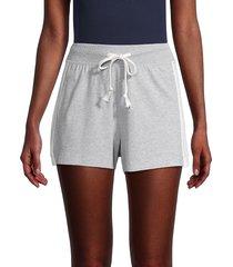 grey state women's side-stripe drawstring shorts - grey - size m