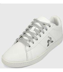 tenis lifestyle blanco-gris le coq sportif courtclassic