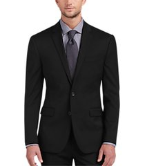 awearness kenneth cole awear-tech black extreme slim fit suit separates coat
