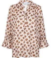 blouse met print willow  bruin