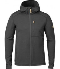 fjällräven vest fjällräven men keb fleece hoodie dark grey-black-xs