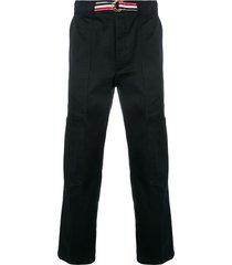 thom browne grosgrain belt cargo trouser - blue