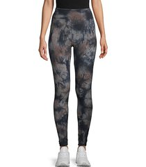 super high-waist tie-dye active leggings
