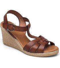 espadrilles 2665 sandalette med klack espadrilles brun billi bi