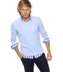 sweater celeste scotfield amarra