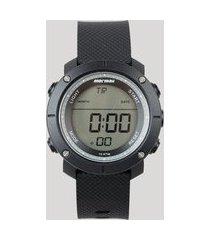 relógio digital mormaii masculino - mo0700aa8p preto