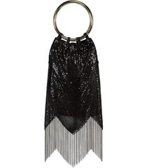 black sequin rio bracelet bag