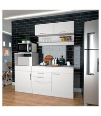 conjunto cozinha compacta nova mobile marajó 5 portas 2 gavetas