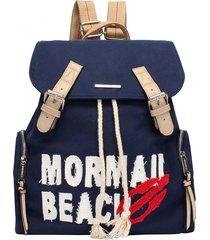 mochila grande canvas mormaii - 230020 - azul marinho