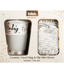 totes women's travel mug and flip mitten 2pc gift set