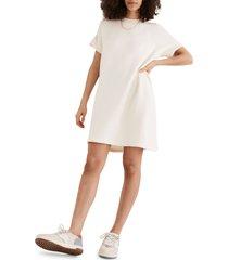 women's madewell mwl airyterry sweatshirt dress, size medium - ivory
