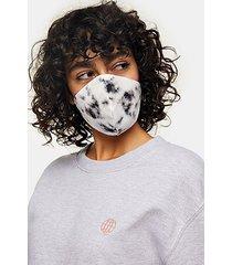 *black and white tie dye fashion face mask - monochrome