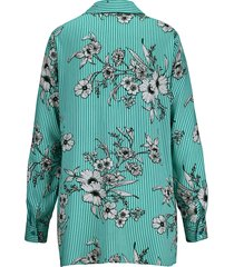 blus m. collection smaragd::vit