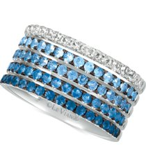 le vian blueberry layer cake blueberry sapphires (1-1/4 ct. t.w.) & vanilla sapphires (1/3 ct. t.w.) ring in 14k white gold
