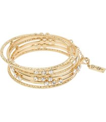 jessica simpson stone mixed bangle bracelet set