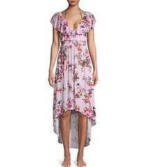 floral high-low cover-up dress