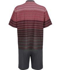 pyjamas hajo bordeaux/grå