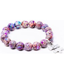 katie's cottage barn autism awareness gemstone bracelet