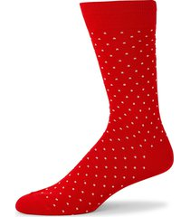 paul smith men's dotted crew socks - red
