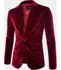 giacca da uomo da uomo casual in velluto a maniche lunghe in velluto a coste tinta unita in 100% cotone