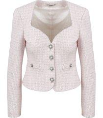 alessandra rich tweed and sequin jacket