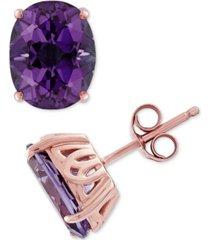 amethyst earrings (3-1/5 ct. t.w.) stud earrings in 14k rose gold