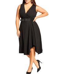 plus size women's city chic sleeveless fit & flare dress