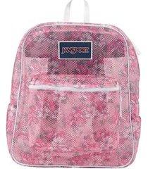 mochila jansport mesh pack prism pink pretty posey