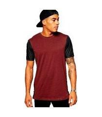 camiseta longline com zíper lateral stecchi