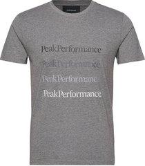 m ground tee 2 white t-shirts short-sleeved grå peak performance