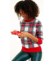 charter club women's plaid sweater, created for macy's