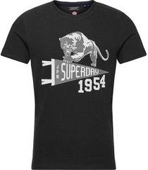 mascot varsity tee t-shirts short-sleeved svart superdry
